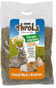 THROLS FIENO ALPINO CON FIORI DI CALENDULA