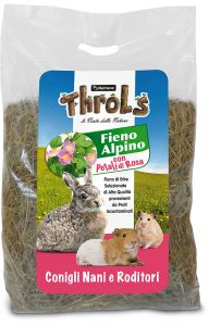 THROLS FIENO ALPINO CON PETALI DI ROSA